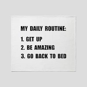 Daily Routine Throw Blanket