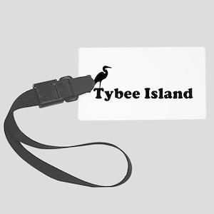 Tybee Island GA - Beach Design. Large Luggage Tag
