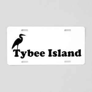 Tybee Island GA - Beach Design. Aluminum License P