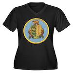 USS DALE Women's Plus Size V-Neck Dark T-Shirt