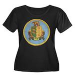 USS DALE Women's Plus Size Scoop Neck Dark T-Shirt