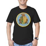 USS DALE Men's Fitted T-Shirt (dark)
