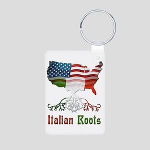American Italian Roots Aluminum Photo Keychain