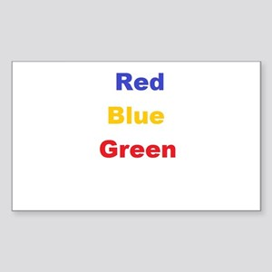 Stroop Effect Sticker (Rectangle)