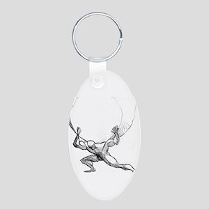 Atlas Aluminum Oval Keychain