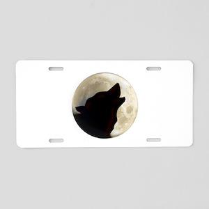 Wolf Moon Aluminum License Plate