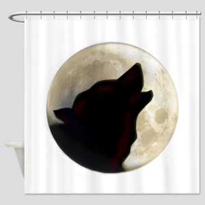 Wolf Moon Shower Curtain