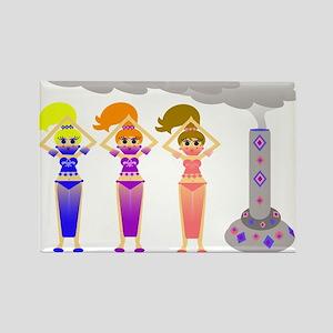 Colorful Pop Art Genies Rectangle Magnet
