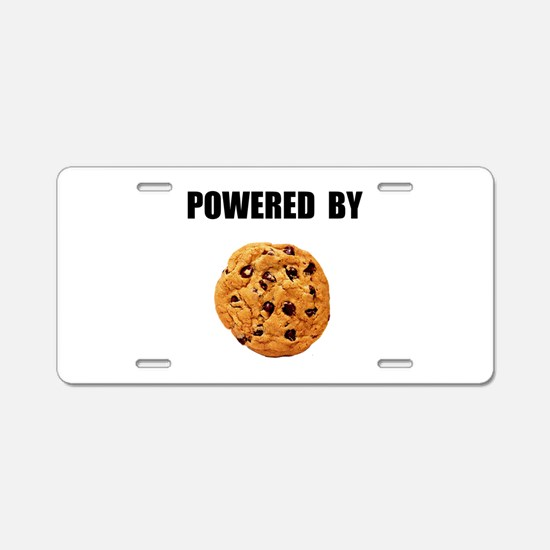Powered By Cookie Aluminum License Plate