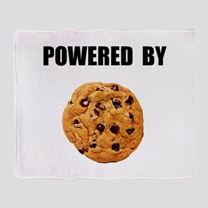 Powered By Cookie Throw Blanket