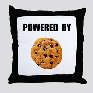 Powered By Cookie Throw Pillow