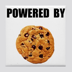Powered By Cookie Tile Coaster