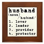 Husband Definition Framed Tile