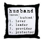 Husband Definition Throw Pillow