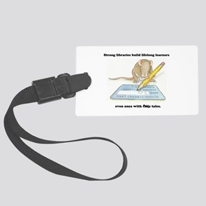 IQ Mouse 4 Libraries Large Luggage Tag