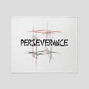 Martial Arts Perseverance Throw Blanket