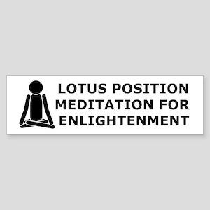 Lotus Position Meditation To Bumper Sticker