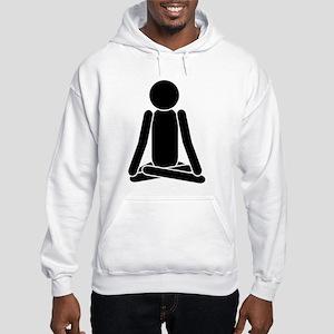 Lotus Position Meditation To Hooded Sweatshirt