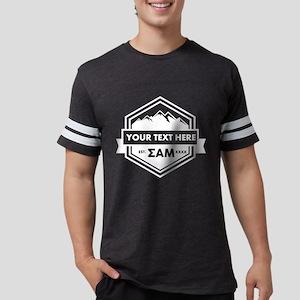 SAM Mountains Ribbon Personali Mens Football Shirt