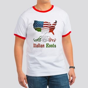 American Italian Roots Ringer T