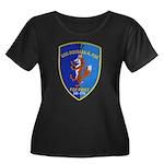 USS DOUG Women's Plus Size Scoop Neck Dark T-Shirt