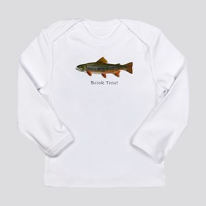 Painting of Brook Trout Long Sleeve Infant T-Shirt