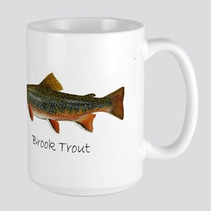 Painting of Brook Trout Large Mug