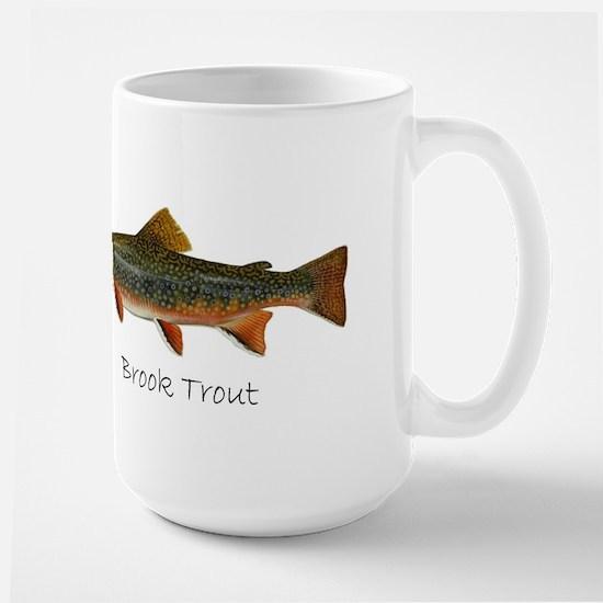 Painting of Brook Trout Large Mug
