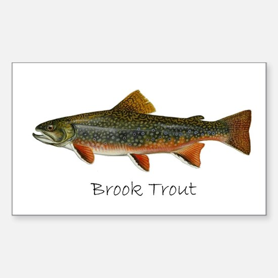 Painting of Brook Trout Sticker (Rectangle)