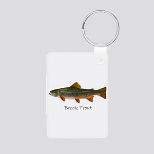 Painting of Brook Trout Aluminum Photo Keychain