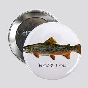 """Painting of Brook Trout 2.25"""" Button"""