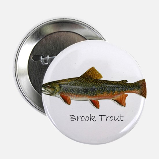 "Painting of Brook Trout 2.25"" Button"