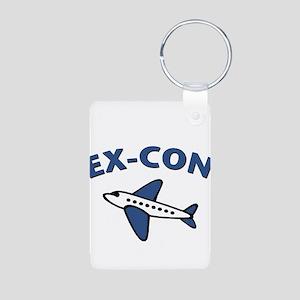 Ex-Con Aluminum Photo Keychain