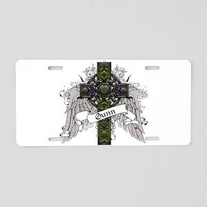 Gunn Tartan Cross Aluminum License Plate