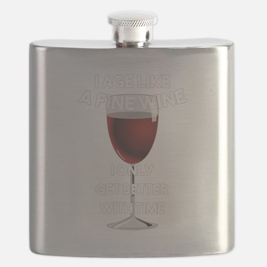 I Age Like A Fine Wine Flask