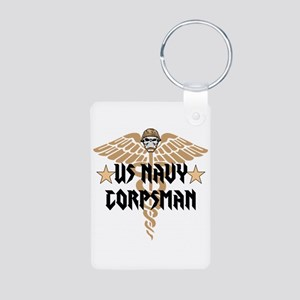 US Navy Corpsman Aluminum Photo Keychain