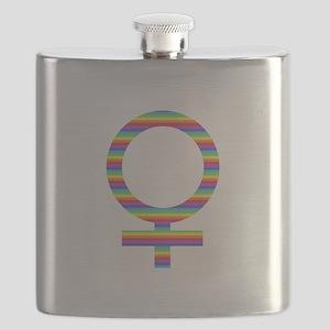 rainbow girl Flask
