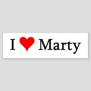I Love Marty Bumper Sticker