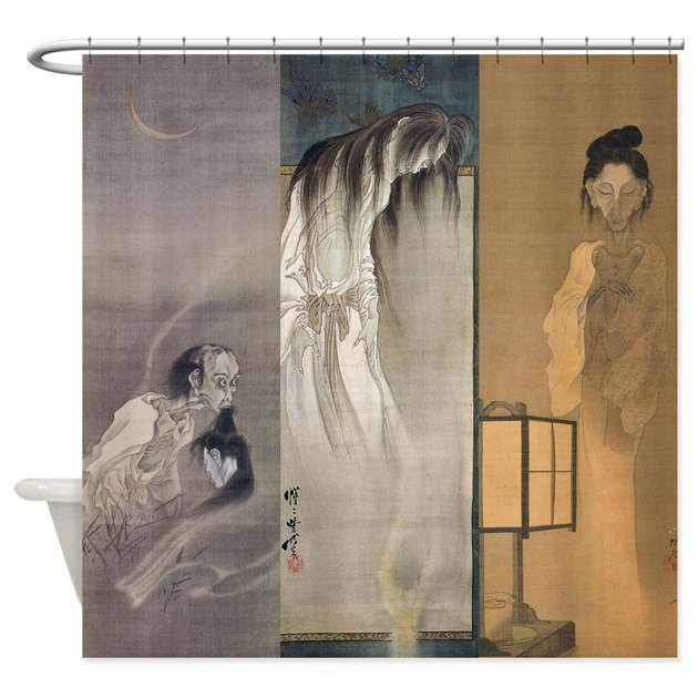 Kawanabe Kyosai 3 Ghosts Shower Curtain by iloveyou1