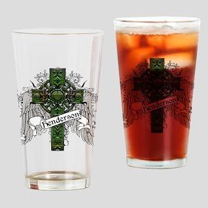 Henderson Tartan Cross Drinking Glass