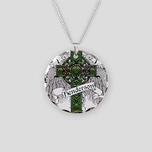 Henderson Tartan Cross Necklace Circle Charm