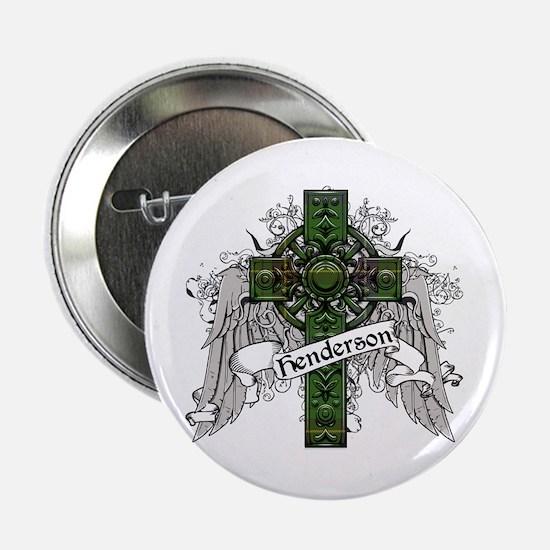 "Henderson Tartan Cross 2.25"" Button"