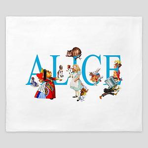 ALICE & FRIENDS IN WONDERLAND King Duvet