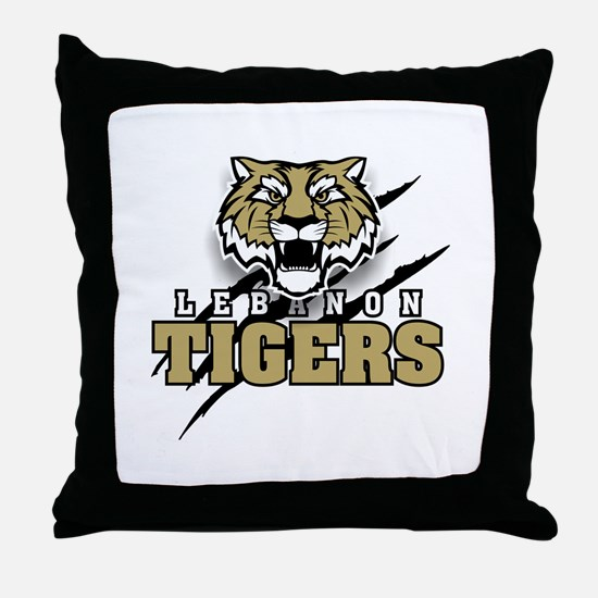 Lebanon Tiger (3) Throw Pillow