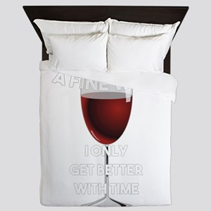 I Age Like A Fine Wine Queen Duvet