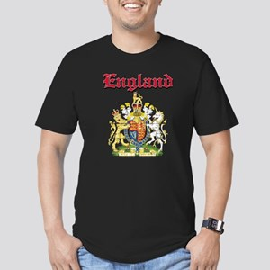 England Coat of arms Men's Fitted T-Shirt (dark)