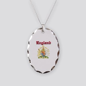 England Coat of arms Necklace Oval Charm