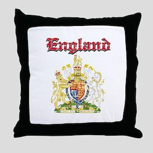 England Coat of arms Throw Pillow