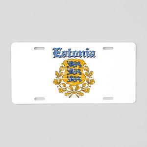 Estonia Coat of arms Aluminum License Plate