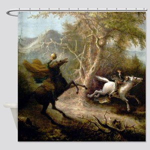 John Quidor Headless Horseman Shower Curtain